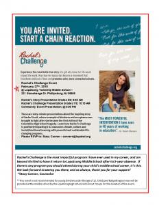 Rachel's Challenge Flyer